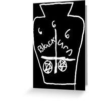 666 BLACK URN DEATH 666 Greeting Card