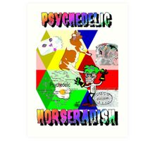 Psychedelic Horseradish Art Print