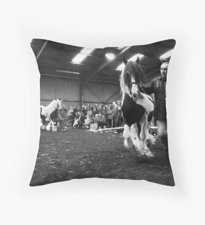 Horse Fair, Newcastle, England Throw Pillow