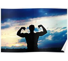 Muscle at Sunset Poster