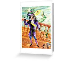 Peter Pan And Captain Hook Greeting Card