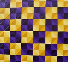 Indian Yellow Dioxazine Purple  by Daniel Icaza