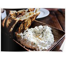 Ricotta and crunchy bread Poster
