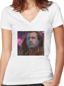 Highlander Galaxy Women's Fitted V-Neck T-Shirt