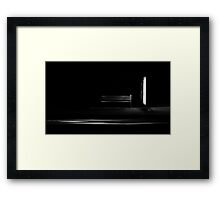 Bus Stop with passing Car Framed Print