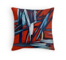 Abstract On Red Throw Pillow