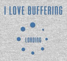 I Love Buffering T-shirt - Buffer Loading Top and Phone Case One Piece - Short Sleeve