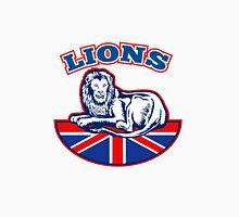 Lion sitting GB British union jack flag Unisex T-Shirt