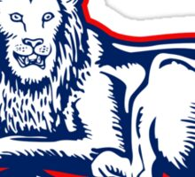 Lion sitting GB British union jack flag Sticker