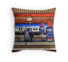 Amtrak Wait Throw Pillow