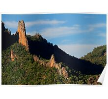 The Breadknife, Warrumbungle Ranges, NSW. Poster