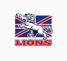 Lion attacking GB British union jack flag Unisex T-Shirt