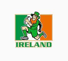 Irish leprechaun rugby player Ireland flag Unisex T-Shirt