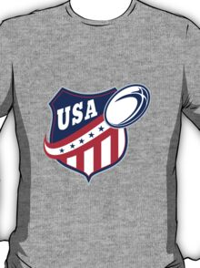 USA American rugby ball and shield T-Shirt