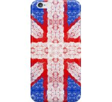 Lace Union Jack England Flag in Red, White, Blue iPhone Case/Skin
