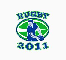 rugby player running passing ball 2011 Unisex T-Shirt