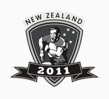 rugby player running passing ball new zealand 2011 by patrimonio