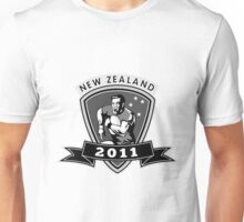 rugby player running passing ball new zealand 2011 Unisex T-Shirt