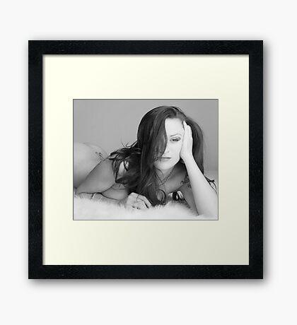 Sophie in gray Framed Print