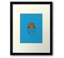 Pocket Lion Framed Print