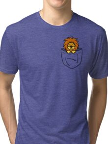 Pocket Lion Tri-blend T-Shirt