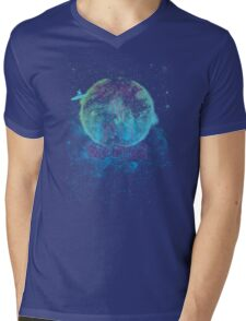 Surf in the Space Mens V-Neck T-Shirt