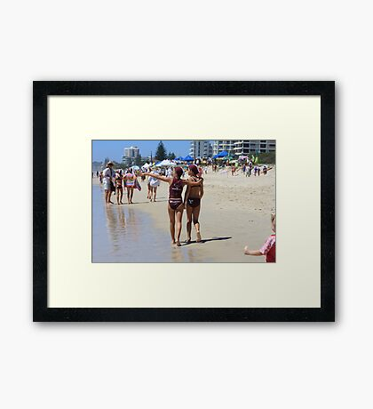 Our Future Lifeguards on the Gold Coast Framed Print