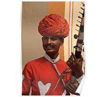 Indian musician - Jaipur, Rajasthan Poster
