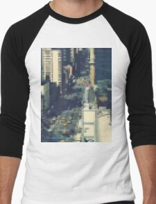 Pixel NYC Men's Baseball ¾ T-Shirt