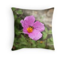 Beeing busy Throw Pillow