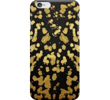 Paint Splatter in Faux Gold and Black iPhone Case/Skin