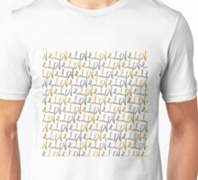 """""""Love"""" Typography in Faux Gold and Silver Paint Unisex T-Shirt"""
