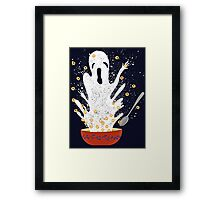 Haunted Breakfast Framed Print