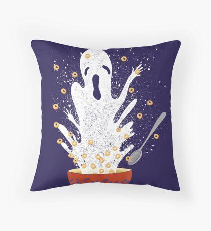 Haunted Breakfast Throw Pillow