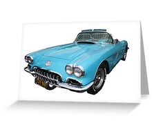 My big blue car Greeting Card
