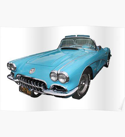 My big blue car Poster
