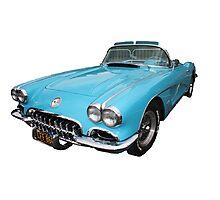 My big blue car Photographic Print