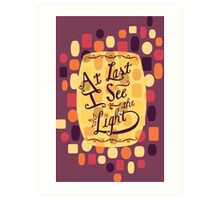 Tangled - At Last I See the Light Art Print