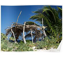 Old beach hut - Sandy Island, nr Carriacou Poster