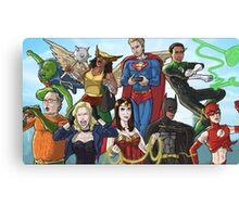 Community Study group Justice league Canvas Print