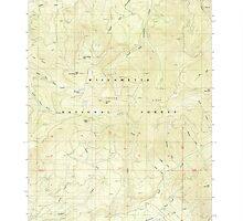 USGS Topo Map Oregon Groundhog Mountain 280109 1986 24000 by wetdryvac