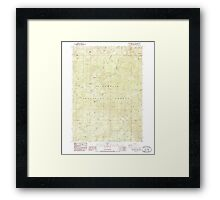 USGS Topo Map Oregon Groundhog Mountain 280109 1986 24000 Framed Print