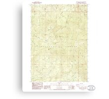 USGS Topo Map Oregon Groundhog Mountain 280109 1986 24000 Canvas Print