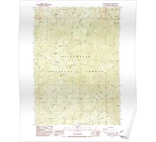 USGS Topo Map Oregon Groundhog Mountain 280109 1986 24000 Poster