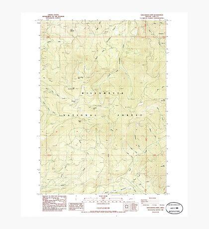 USGS Topo Map Oregon Groundhog Mountain 280109 1986 24000 Photographic Print