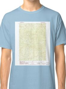 USGS Topo Map Oregon Groundhog Mountain 280109 1986 24000 Classic T-Shirt