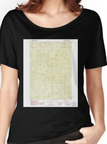 USGS Topo Map Oregon Groundhog Mountain 280109 1986 24000 Women's Relaxed Fit T-Shirt