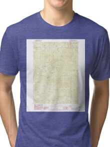 USGS Topo Map Oregon Groundhog Mountain 280109 1986 24000 Tri-blend T-Shirt