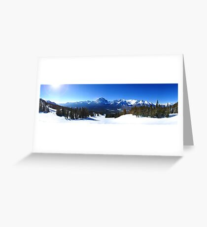 Lake Louise Mid Mountain Panorama Greeting Card