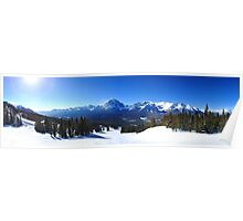 Lake Louise Mid Mountain Panorama Poster